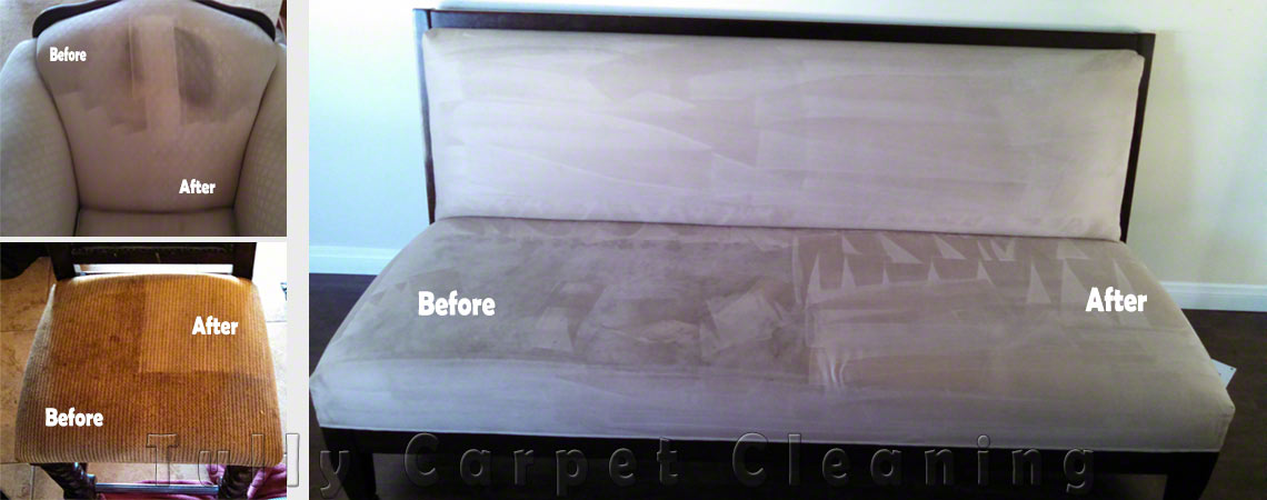 Upholstery Cleaning - Before & After